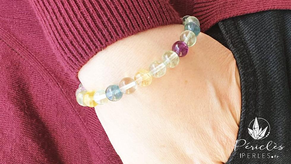 Bracelet Fluorite qualité AA • 8 mm  - perles rondes