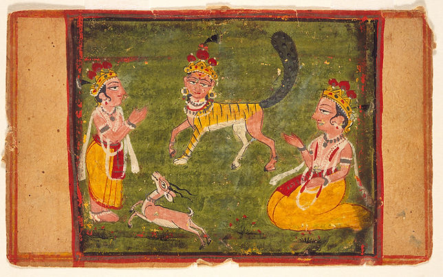 The Buraq Worshipped by Two Princes, India, Jammu and Kashmir, Kashmir region, 19th century. LACMA, USA, M.72.53.25.