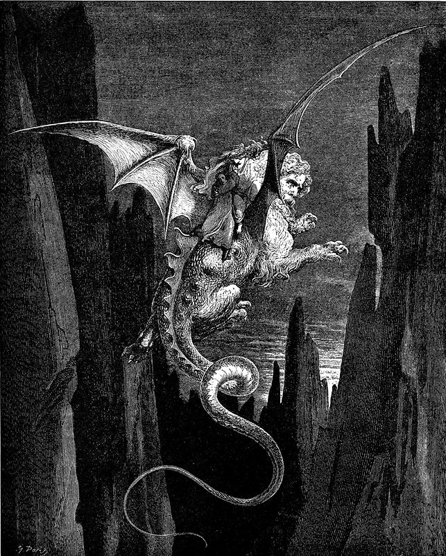 Gustave Doré, 'Geryon'. Dante Alighieri's Inferno from the original by Dante Alighieri and illustrated with the Designs of Gustave Doré (New York: Cassell Publishing Company, 1890).
