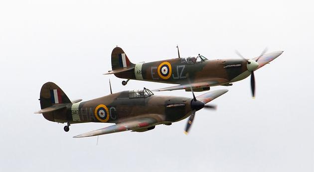 Hurricane and Spitfire Mk1A