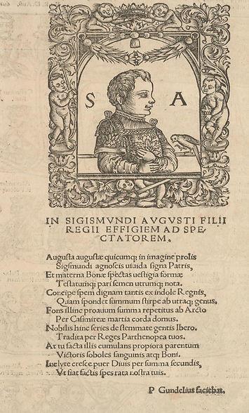 Sigismund Augustus. 'Jodocus Ludovicus Decius, 'De Iagellonum familia liber II', 1521.