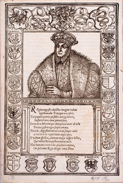 Portrait of Sigismund Augustus,Stanislaus Hosius, 'Confessio catholicae fidei christiana', Vienna, 1560. National Museum, Cracow.