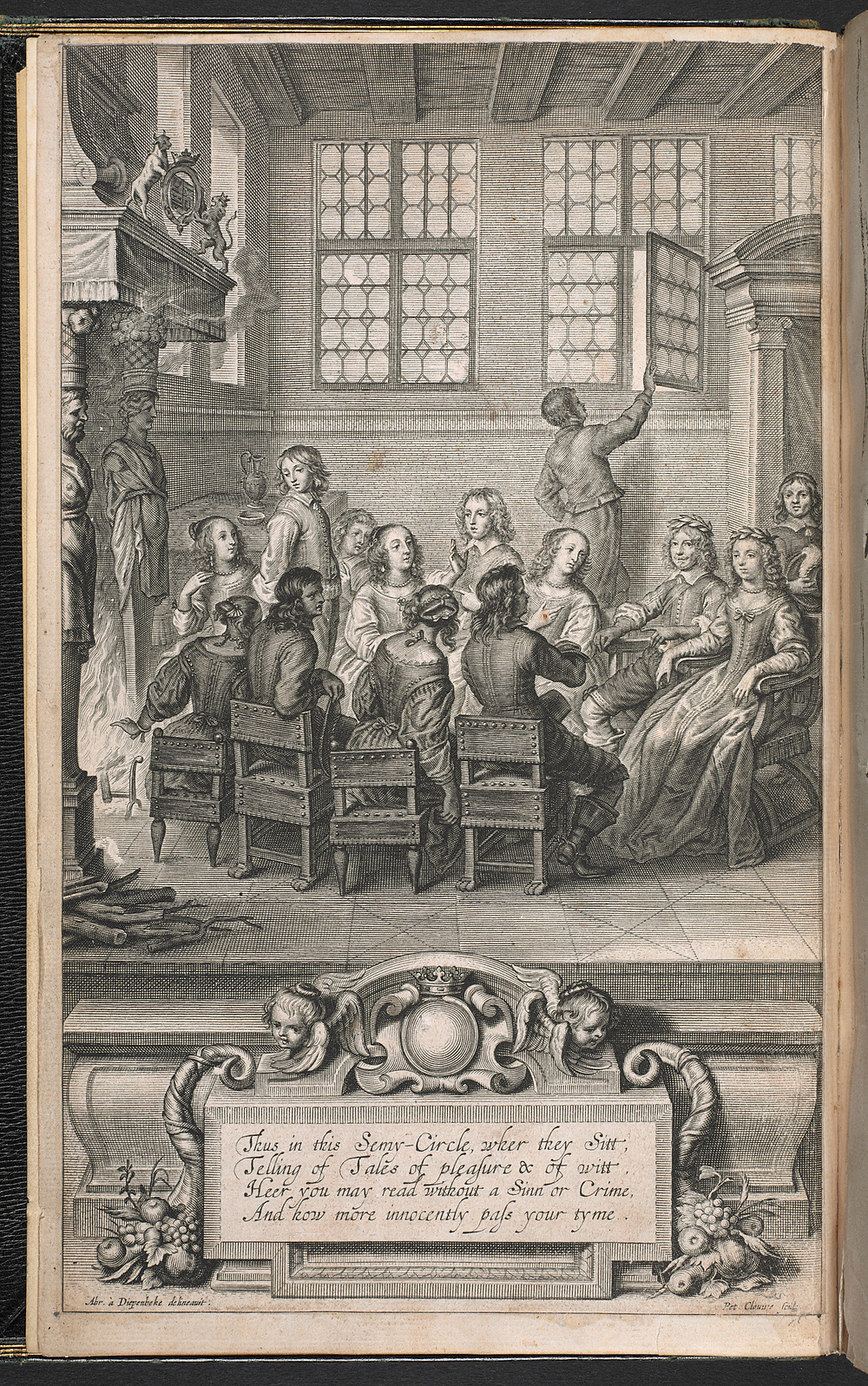 The World's Olio frontispiece (1655) – Cavendish in her closet. Held in the British Library