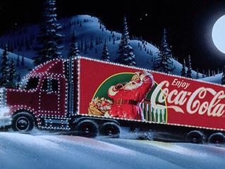 Christmas Trucks with Christmas Lights