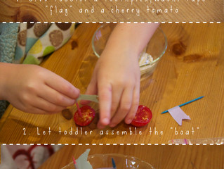 Easy Toddler Food Crafts: Tomato Boats