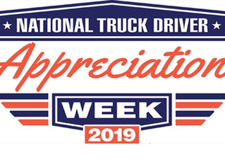 Happy National Truck Driver Appreciation Week!