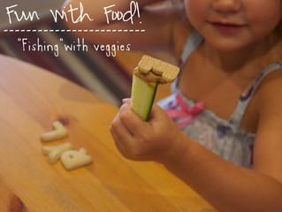 Fun With Food: Fishing with Veggie Sticks