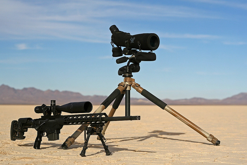 Rifle and spotting scope