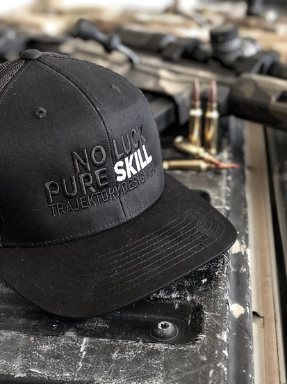 No Luck Pure Skill Trucker Hat
