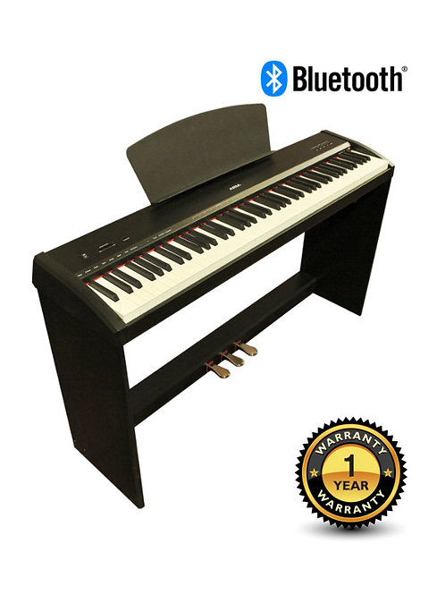 Digital Piano 88 Gradually Weighted Keys 3 Pedals with Bluetooth