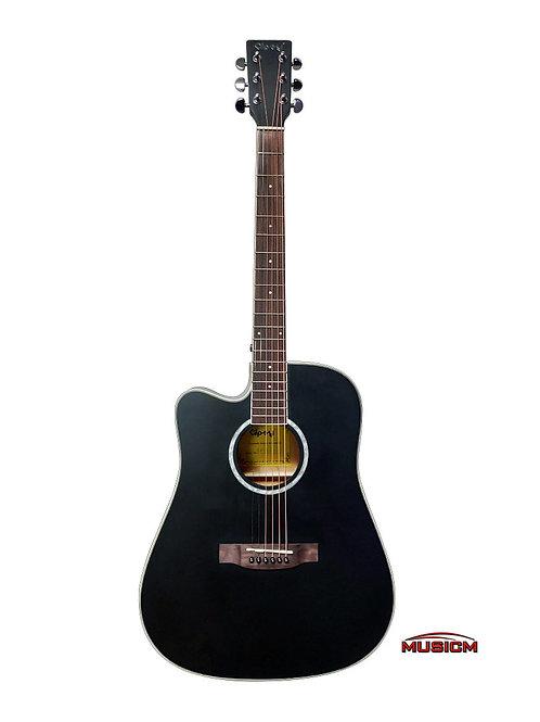 Gipsy Lefty Acoustic Guitar Black