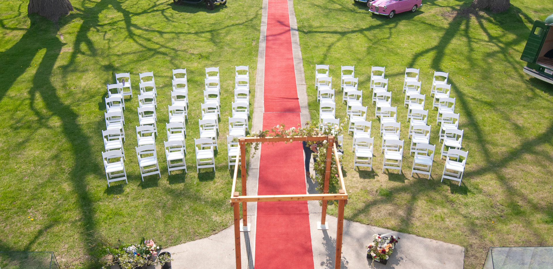 Mock Wedding Day Set-Up at Grand Opening Event