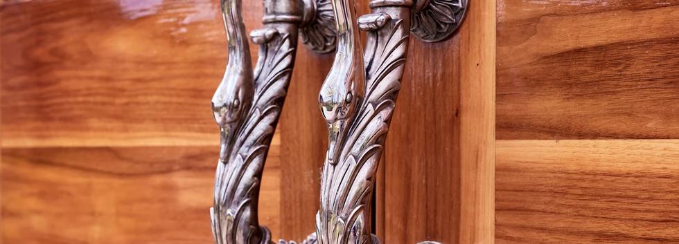 Ornate Swan Doorhandles