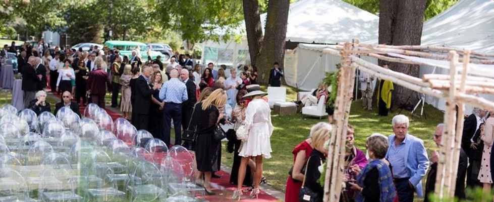Tented Wedding Reception on The Wilde Garden