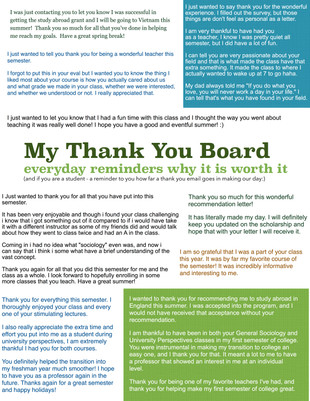 My Thank You Board
