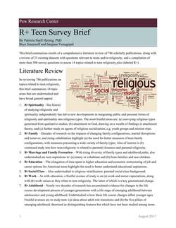 R+ Teen Survey Brief