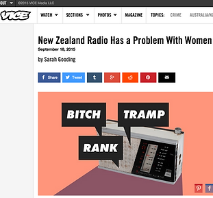 Feature on New Zealand radio's rampant sexism, for VICE