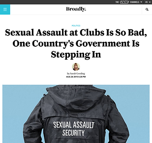 Feature on sexual harassment at nightclubs, for Broadly