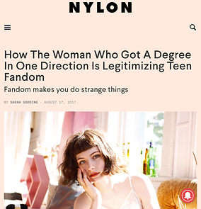 An interview with Millie Lovelock, who got her Master's degree in One Direction, for NYLON