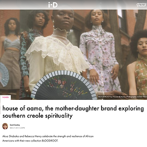 Feature on the fashion label House of Aama, for i-D