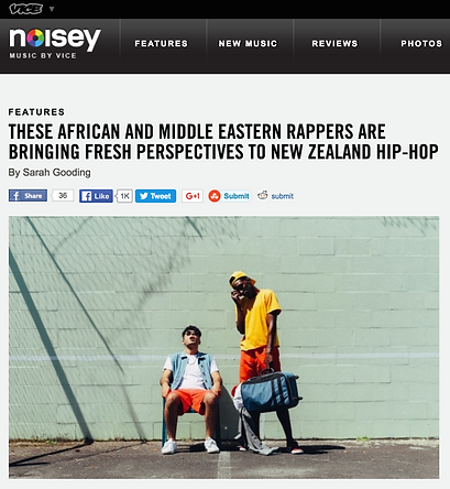 African and Middle Eastern rappers bringing fresh perspectives to New Zealand Hip Hop Feature on Noisey by Sarah Gooding