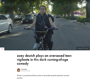 Interview with actress Zoey Deutch and director Max Winkler about their film 'Flower' for i-D