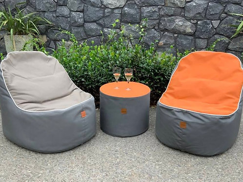 'Breeze' Luxury Beanbag Chairs + Ottoman