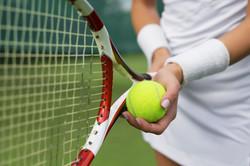 Ball & Racket vasthouden