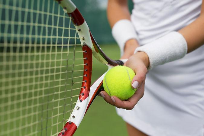 Holding Ball & Racket