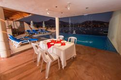 Restaurante con vista mar