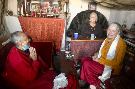 Candice Rinpoche with Ani Bumchang and Lama Lena
