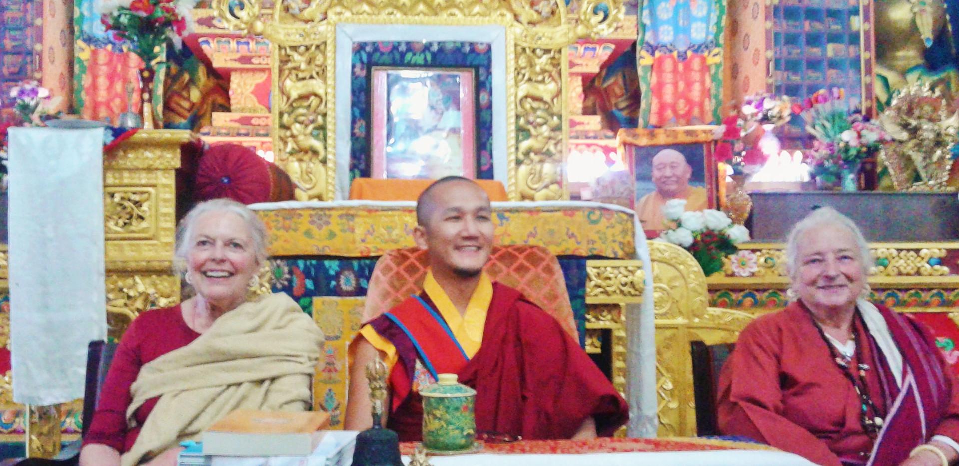 Candice Rinpoche, Palgar Rinpoche and Lama Lena