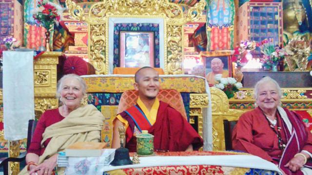 Ziji Rinpoche with H.E. Palgar Rinpoche and Lama Lena