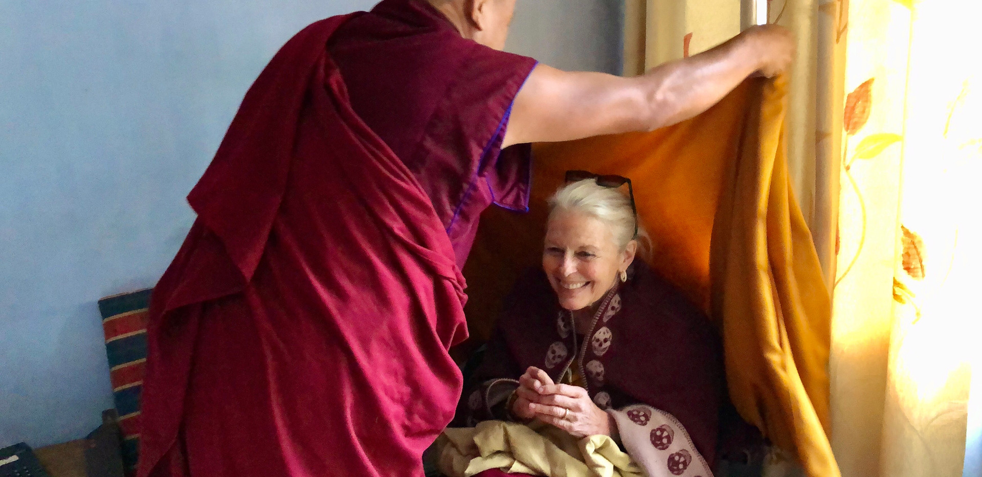 Candice Rinpoche with Khenpo