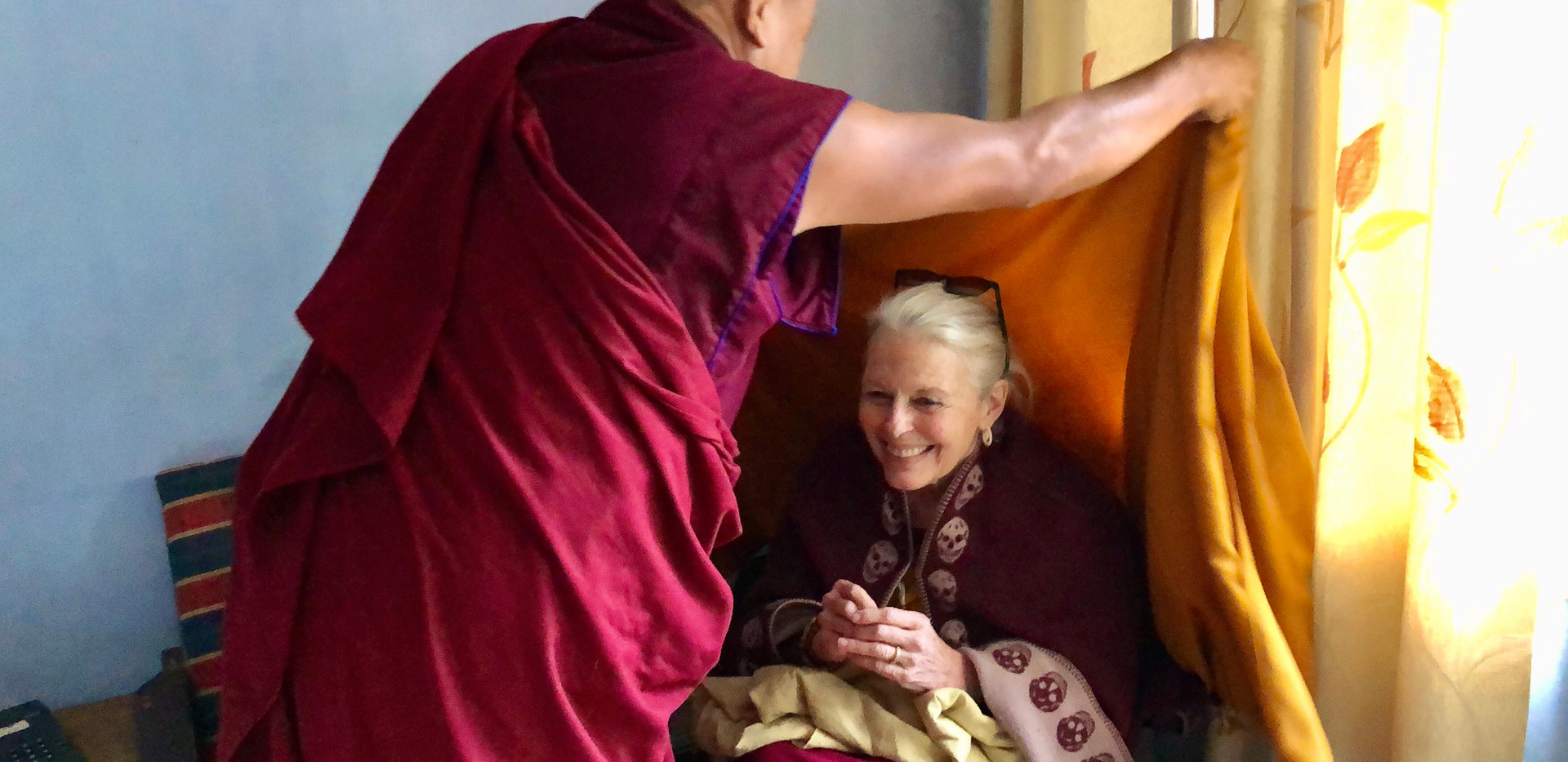 Candice Rimpoche with Khenpo