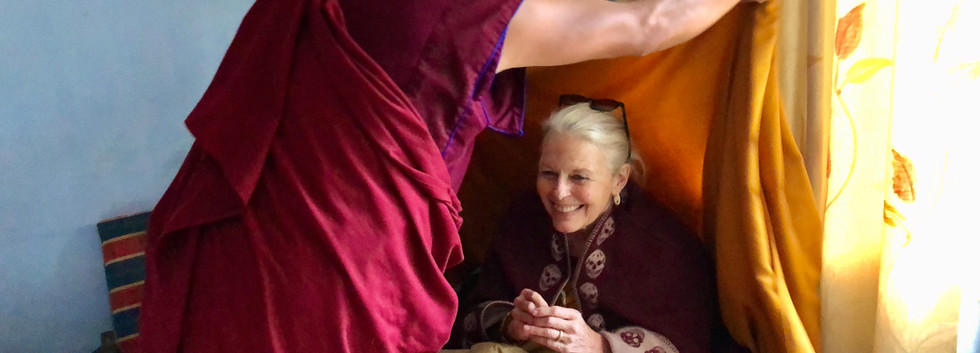 Candice Rimpoche with Khenpo