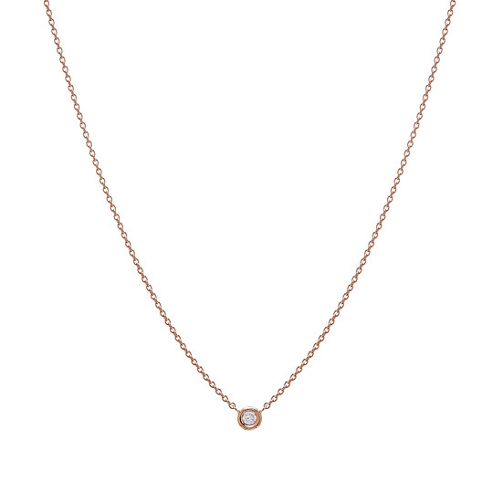 Single White Diamond Necklace
