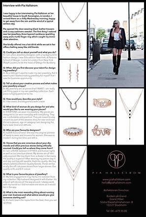 Pia Hallstrom Fine Jewellery Expressen