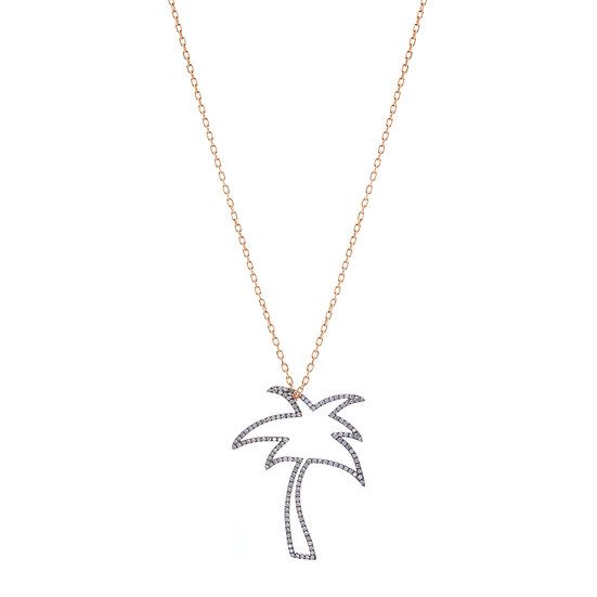 Large Palm Tree Necklace