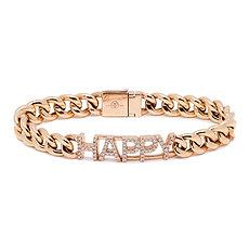 Cuban Link Happy Bracelet