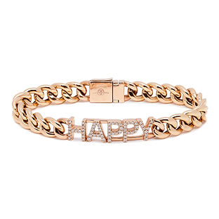 PH6009 Cuban Link HAPPY Bracelet WITH LO