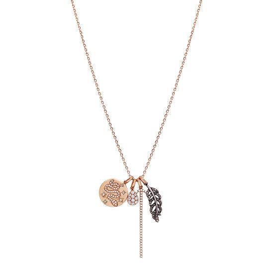 Sword Snake Leaf Diamond Necklace