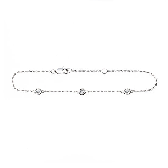Three Diamond Bracelet
