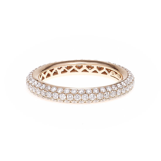 Micro Pave Eternity Band