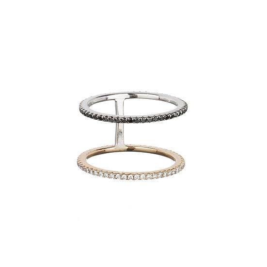 Double Eternity Midi Ring