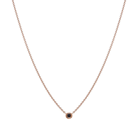 Single Black Diamond Necklace