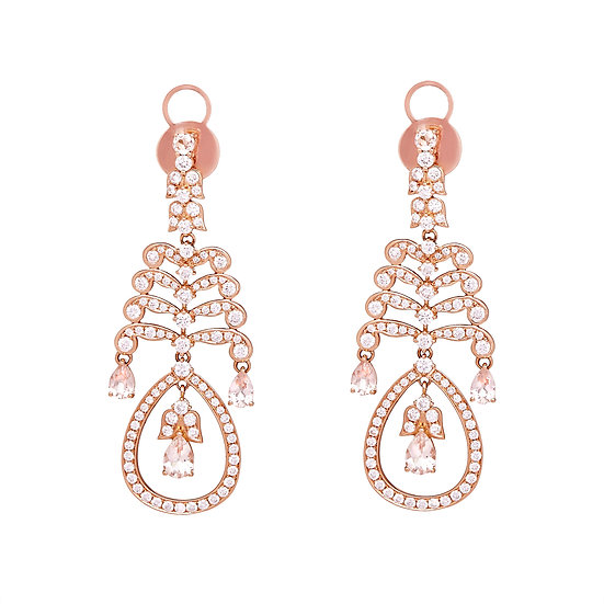 Fishbone Chandelier Earrings