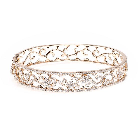 Lace Diamond Bangle