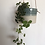 Thumbnail: Porcelain hanging planter with teal glaze