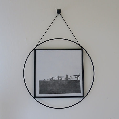 Circular wire framed print